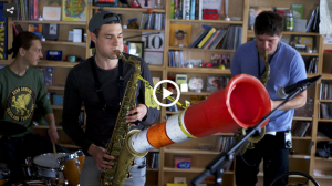 Tiny Desk concert with Moon Hooch